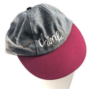 "Vintage ESPRIT ""Think"" Cap with ""ESPRIT"" Pin"